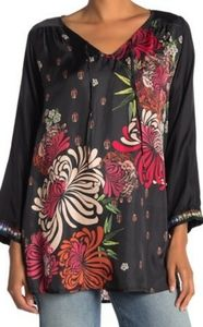 NWT silk Johnny Was blouse